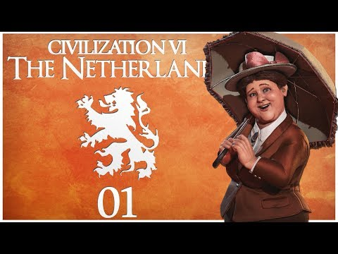 Civilization 6 - Rise and Fall Pre-Release as the Netherlands - Episode 1 ..The Hills of Amsterdam..