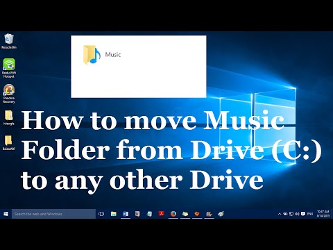 How to move Music folder from Drive C to another drive in Windows 10
