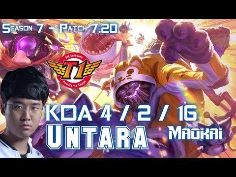 SKT T1 Untara MAOKAI vs CAMILLE Top - Patch 7.20 KR Ranked