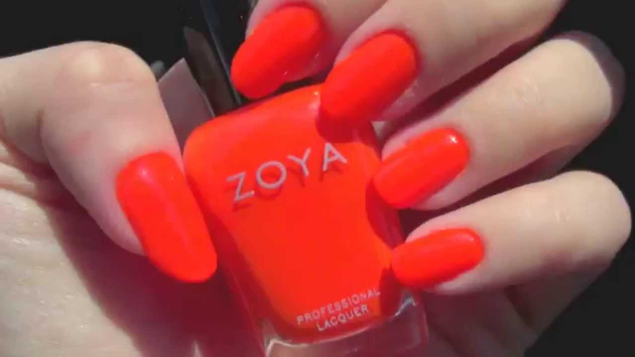 Zoya \'Paz\' Neon Nail Polish - YouTube