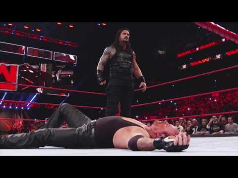 ROMAN REIGNS TAKES OUT THE UNDERTAKER Raw, March 20, 2017
