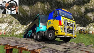 Indian Truck Driver Risking his Life for Rescue Bus | Euro Truck simulator 2 with mod