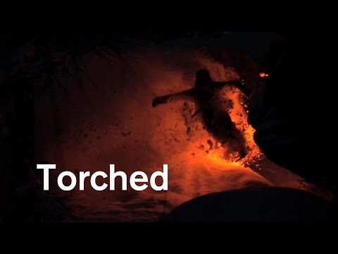 I skied powder at night with rescue flares strapped to my skis, here's the resulting video