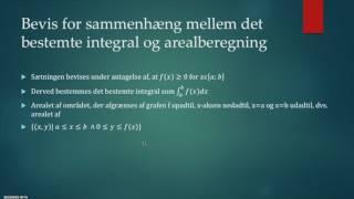 Præsentation af integralregning