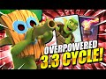 GOD MODE ACTIVATED!! 3.3 GOBLIN BARREL CYCLE DECK in Clash Royale!!