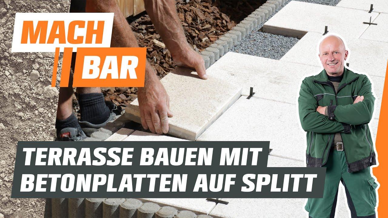 Betonplatten-Terrasse bauen im Splittbett | OBI - YouTube