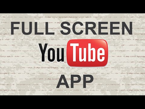 How to full screen Youtube mobile app