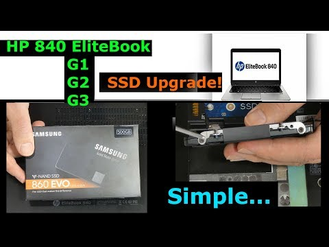 Upgrading SSD in HP 840 G1 EliteBook, 840 G2 or 840 G3 Laptop, Solid State Hard Drive