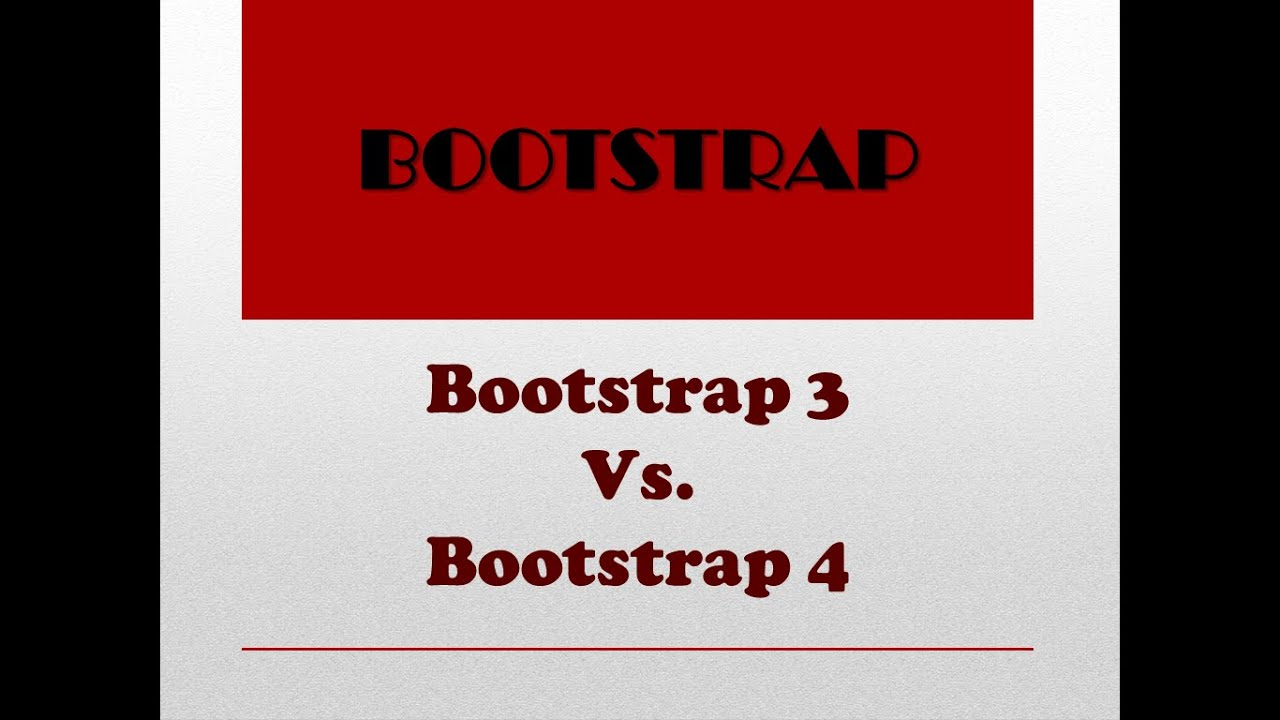 Difference Between Bootstrap