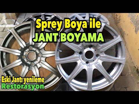 Sprey Boya ile Jant Boyama ve Jant Vernik uygulaması yaptım. (Eski Jantları Kurtardık)