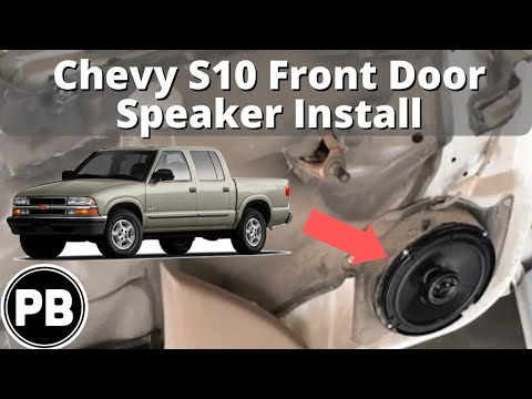 1998 2004 Chevy S10 Blazer Jimmy Sonoma Front Door Speaker Install
