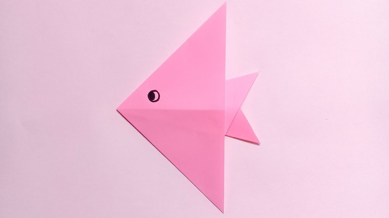 Origami fish easy for kids youtube origami fish easy for kids jeuxipadfo Images