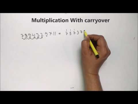 Multiplication Tricks with carryover For CAT , IBPS PO , SSC CG Fast Vedic maths