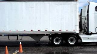 trucking school perfect parallel parking