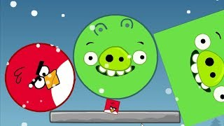 Angry Birds Kick Out Green Pigs - SQUARE BIRD HELP ROUND BIRDS KICK ALL PIGGIES!