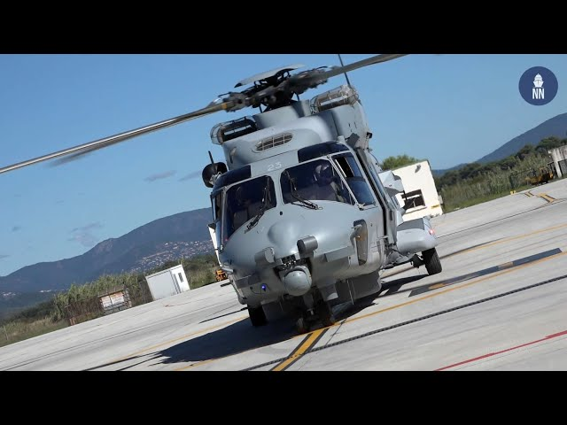 NH90 NFH Caïman Maritime Helicopter of the French Navy's 31F Squadron