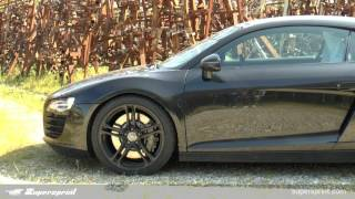 audi r8 4 2 v8 sound with supersprint race exhaust revving
