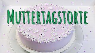 BLUMEN TORTE zum MUTTERTAG BACKEN | Nougat Fondant Torte selber machen | Muttertagsgeschenke