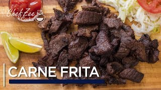 Carne Frita Dominicana  Fried Crispy Beef  Dominican Street Food  Chef Zee Cooks