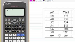 Linear Regression With CASIO fx 991 EX