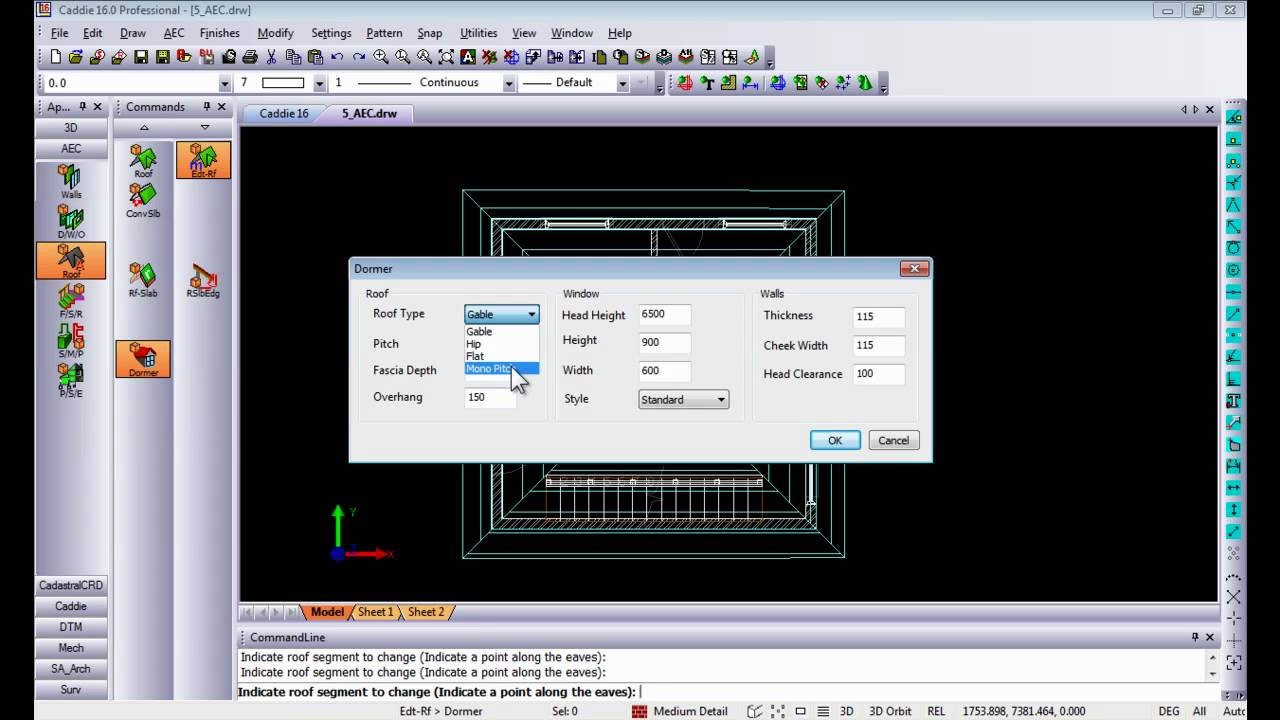 Aec 2d Plan To 3d Render In Caddie Dwg Architecture Compatible Cad Software