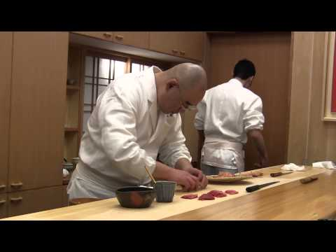 3 Michelin Star Sushi Chef At Work In Tokyo