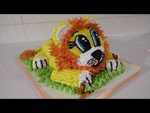 ТОРТЫ Торт для ребенка своими руками ИДЕИ УКРАШЕНИЯ ТОРТОВ Торт львёнок
