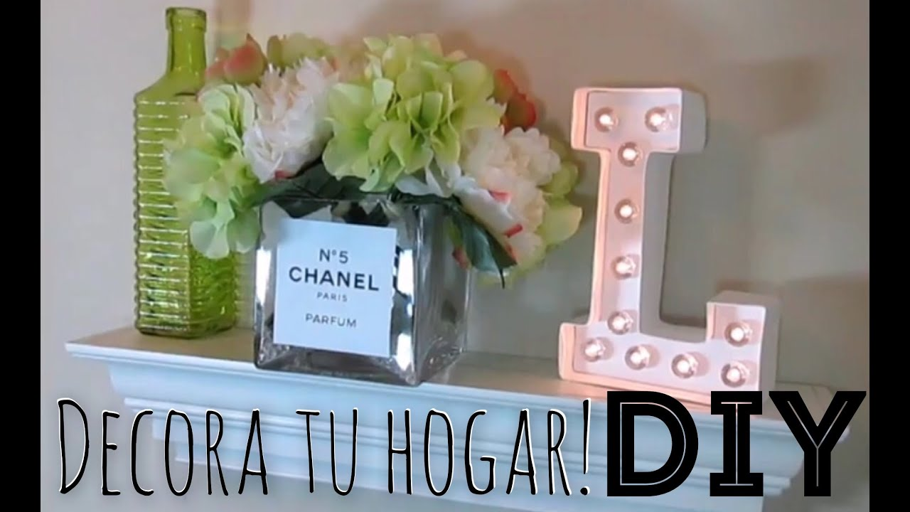 Diy decoracion para tu hogar youtube for Decoracion de jarrones