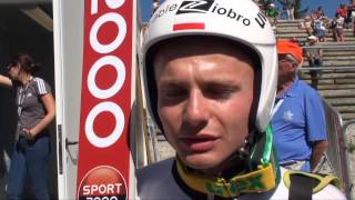 Jan Ziobro po wygranych kwalifikacjach [ SkiJumping.pl ]