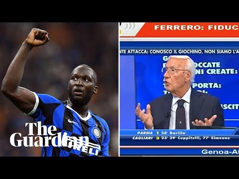 Italian football pundit sacked for racist on-air remarks about Romelu Lukaku