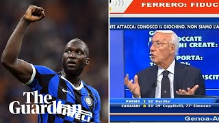 Italian football pundit sacked after racist remarks about Romelu Lukaku