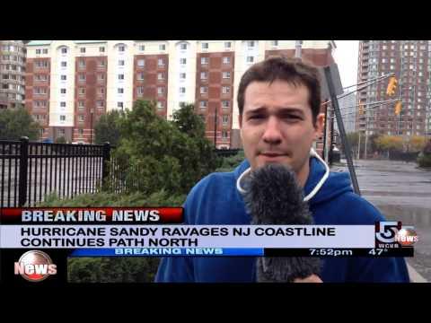 Hurricane Sandy live news report