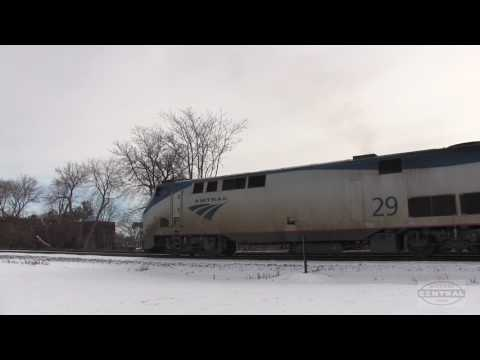 Thumbnail: Amtrak Wolverine With Viewliner Baggage Car!