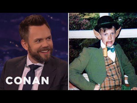 "Joel McHale Dressed As A ""Young Conan""  - CONAN on TBS"