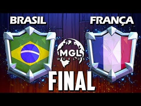 BRASIL x FRANÇA: GRANDE FINAL DA COPA DO MUNDO DE CLASH ROYALE AO VIVO - BrunoClash e Gustovow