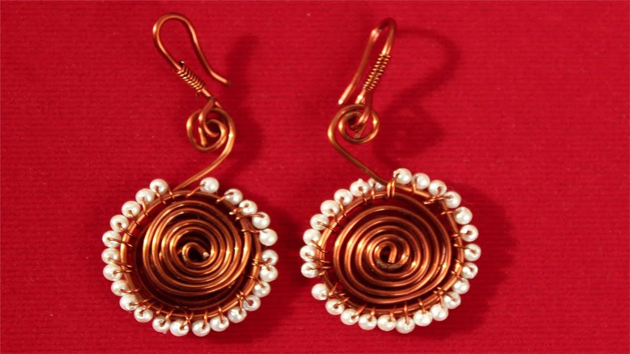 Wire Jewelry Fancy Earrings - YouTube