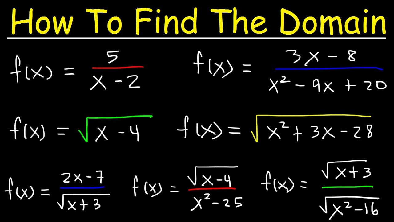 How To Find The Domain Of A Function Radicals Fractions
