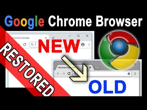 How To Restore Google Chrome Desktop Browser Old Theme Look
