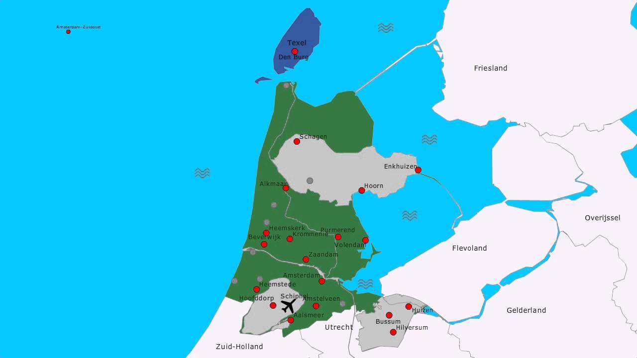Topografie Provincie Noord Holland Www Topomania Net