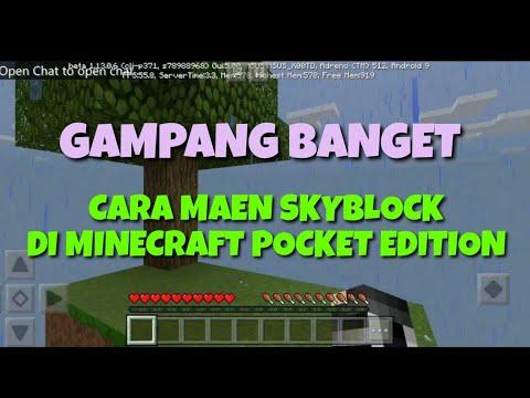 CARA MAEN SKY BLOCK DI MINECRAFT POCKET EDITION GAMPANG BANGET (1)