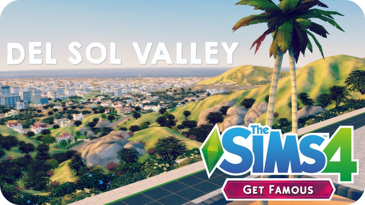 DEL SOL VALLEY TOUR (with lot sizes & townies) | Sims 4 Get Famous (Early  Access)