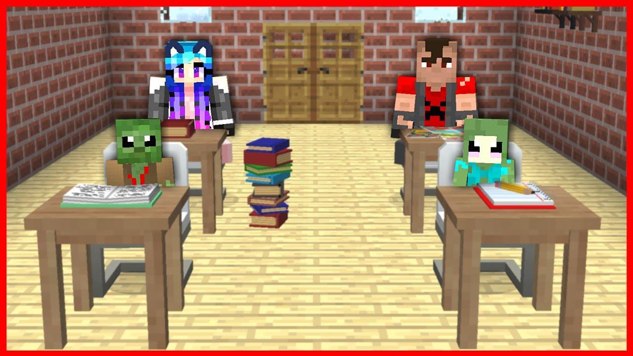 FAKİR ZOMBİ OKULA BAŞLADI! 😱 - Minecraft