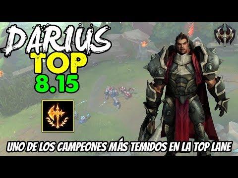 DARIUS TOP S8   STACKS, DAÑO, R, RESET!   Build, Runas, Maestrias 8.15 Gameplay Español NO GUIA