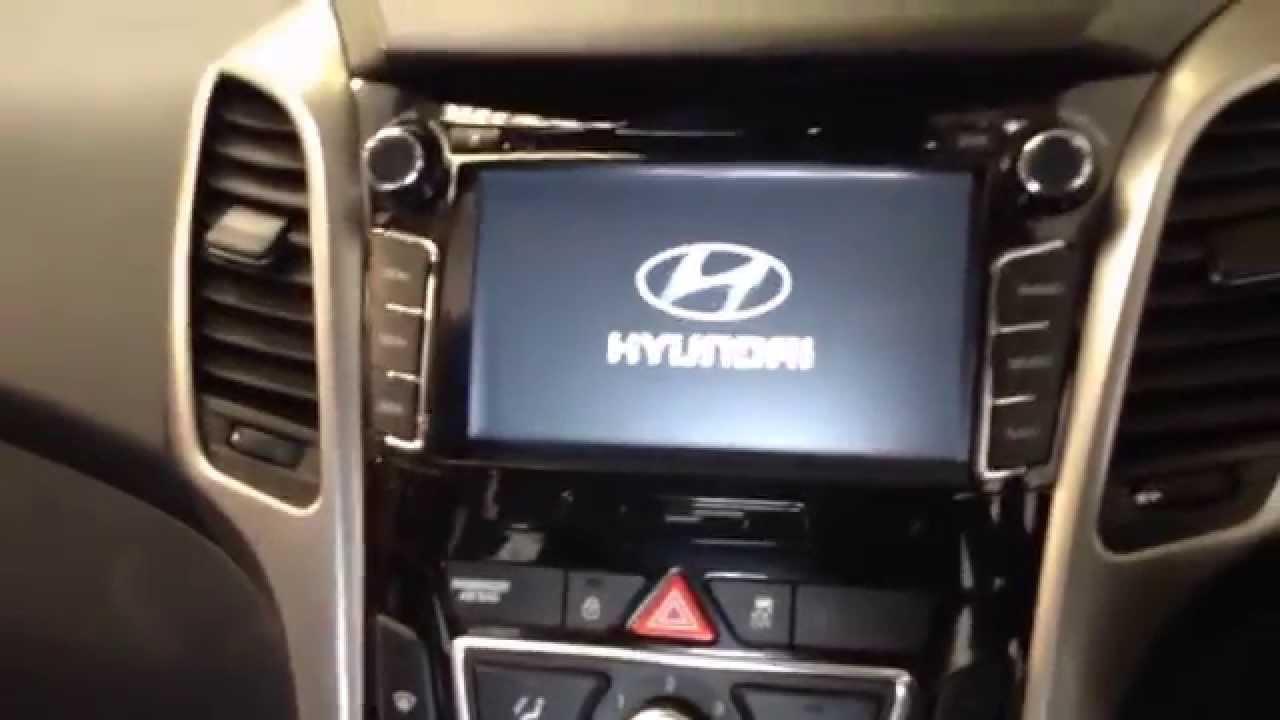 new hyundai i30 custom gps premium navigation system youtube