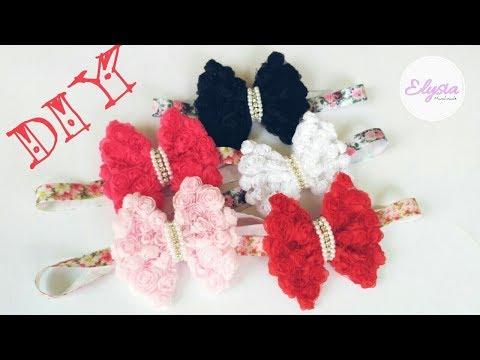Headband Ideas : Rose Lace Bow Headband | DIY by Elysia Handmade
