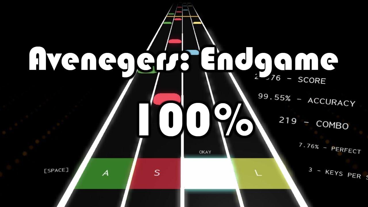 Avengers Endgame Portals   100% Accuracy Hard (Roblox Rhythm Track) - Zipps Entertainment