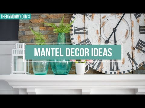 MANTEL DECORATING IDEAS | How to Style a Mantel 2 Ways | The DIY Mommy