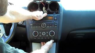 How to Bose Nissan Altima 2007-2012 Car Stereo radio Removal aux jack replace