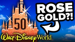 ROSE GOLD CASTLE Coming to Walt Disney World for 50th ANNIVERSARY?! - Disney News