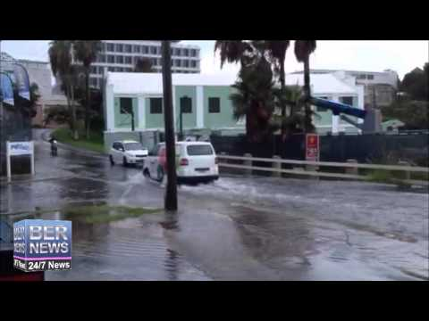 Heavy Rains Cause Road Flooding, Aug 12 2014